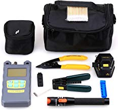 Genneric 19 in 1 Fiber Welding Tool Kit Skl-6c Fiber Cleaver Power Meter 10mw Cable Tester Stripping Tool