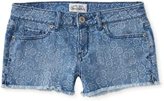 Womens Bandana Print Cut Off Casual Denim Shorts