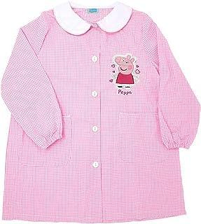 Peppa Pig grembiule rosa quadretti scuola materna art .6158