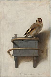 Spiffing Prints Carel Fabritius - The Goldfinch 1654 - Small - Semi Gloss - Unframed