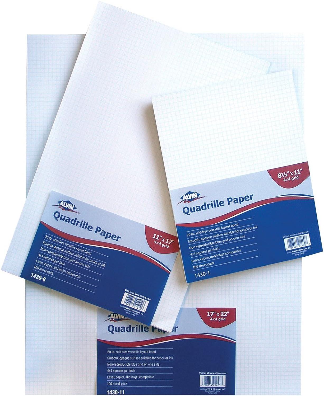 Alvin 1430-1410 Papier Quad 11x17x10 100-pkg B000HF6ZQ6 | Garantiere Qualität und Quantität