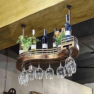 Casier à Verre à vin-Acier Inoxydable Chrome sous Armoire casier à vin Verre Holde système de séchage à l'air autoportant ...