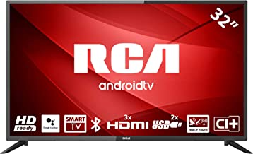RCA RS32H2 Android TV (32 Pulgadas HD Smart TV con Google Assistant), Chromecast Incorporado, HDMI+USB, Triple Tuner, 60Hz
