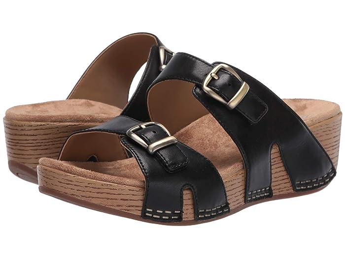 70s Shoes, Platforms, Boots, Heels Dansko Leeann Black Burnished Calf Womens Shoes $134.95 AT vintagedancer.com