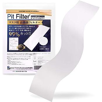 日本製 [PFE試験証明書取得済み」 ノーズマスクピット ウィルス・PFE 0.1・PM2.5など99%カット!! マスク用高機能フィルターシート 6枚分 (ウィルス対策)