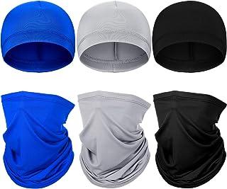 6 قطعه تابستانی محافظت در برابر اشعه ماورا UV بنفش گردن گتر کلاه آستر جمجمه کلاه کلاه گردن صورت روسری عرق فتیله کلاه دوچرخه سواری