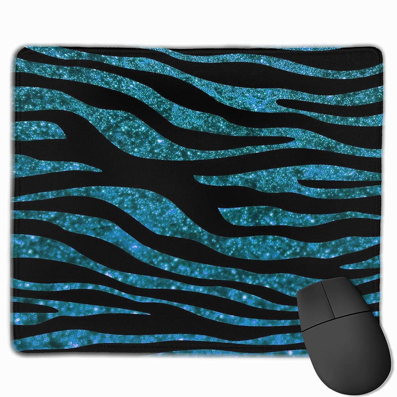 Non-Slip Mouse Pad Rectangle Rubber Mousepad Glitter Zebra Print Gaming Mouse Pad
