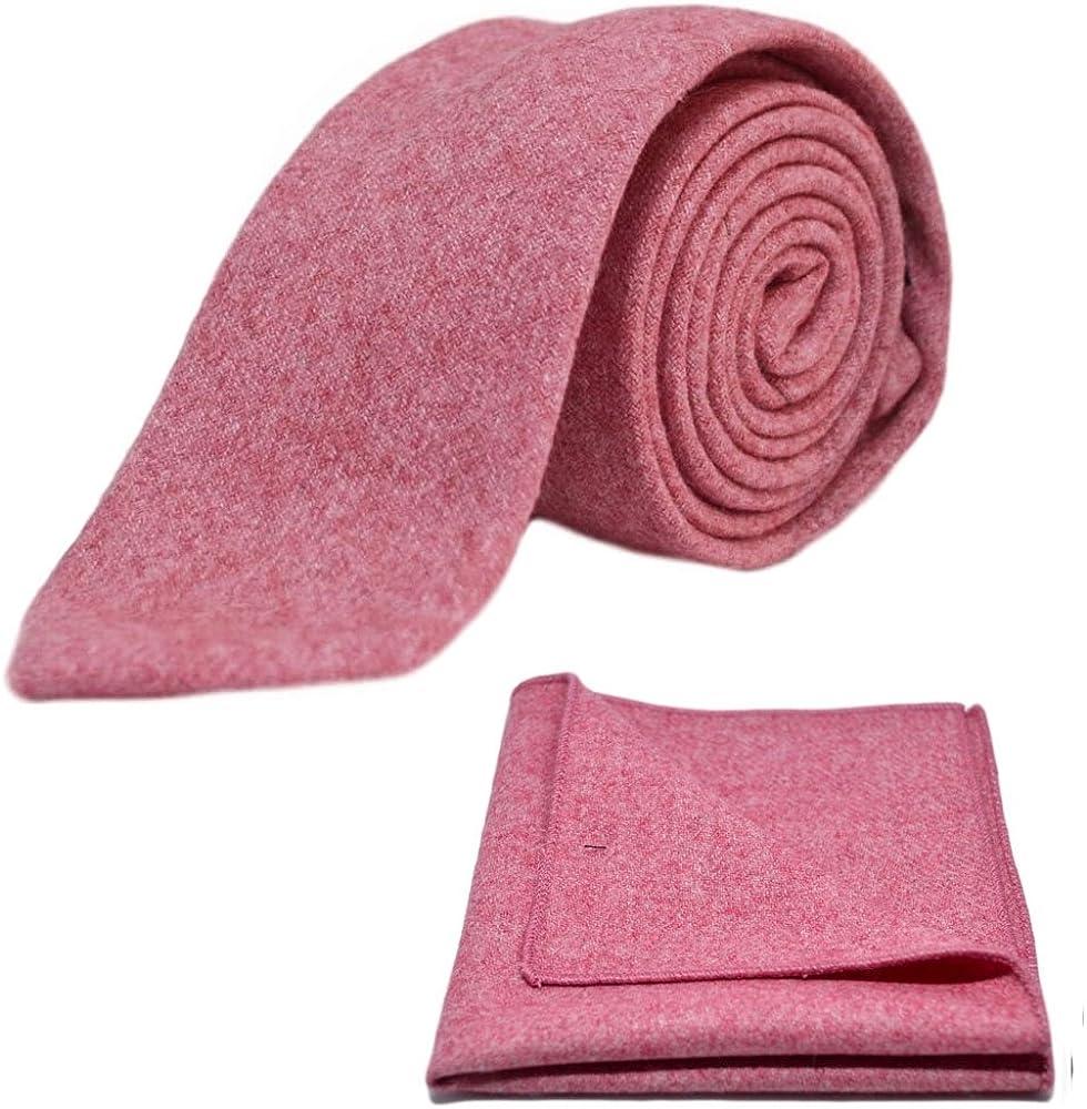 Stonewashed Red Necktie & Pocket Square Set