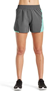 Mission Women's VaporActive Ion 4 Training Shorts, Iron Gate/Pool Blue, Small