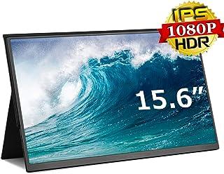 モバイルモニター モバイルディスプレイ cocopar15.6インチ スイッチ用モニター 非光沢IPSパネル 薄い 軽量 1920x1080FHD USB Tpye-C/mini HDMI/カバー付 3年保証付zs-156