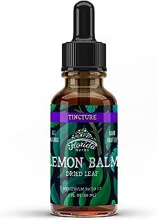 Lemon Balm Tincture, Organic Lemon Balm Extract (Melissa officinalis): Calm Supplement, Mental Support, Anti-Viral, Anti-Anxiety Supplements 2 Oz, 670 mg
