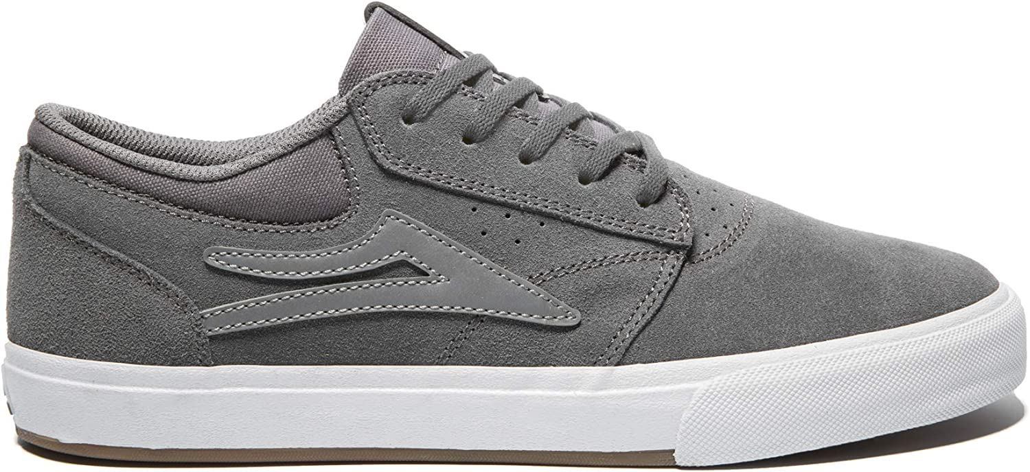 Lakai Unisex's Footwear Summer 2019 Griffin VLK Grey Silver Suede Size 10.5 Tennis shoes, M US