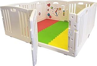 All Stars Parc bébé 8 pièces XXL avec panneaux d'activité tapis de sol et balles colorées Fabriqué avec matériaux non toxi...