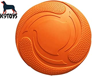 Durable Rubber Dog Frisbee - Tough Training and Playing - Soft, Safe and Non-Toxic High Grade Material - Fetch/Chew Toy - Nearly Indestructible