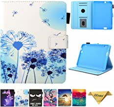 Folio Case for Fire HDX 7 - JZCreater Slim Fit Leather Standing Protective Cover with Auto Sleep/Wake for Amazon Kindle Fire HDX 7.0 Inch 3rd Generation Tablet,Dandelion