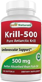 Best Naturals Krill-500 Antarctic Krill, 120 Softgels