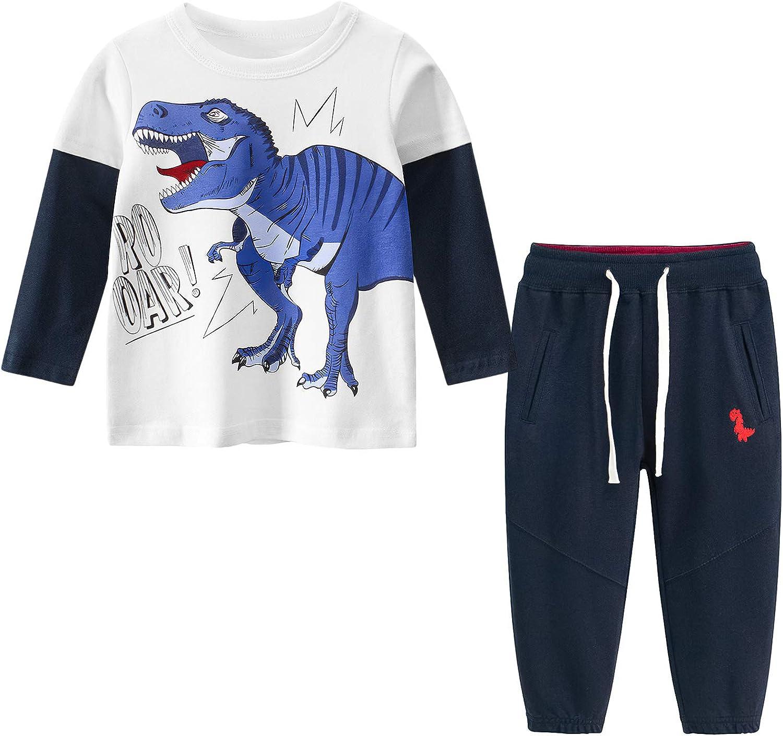 Boy Clothes Set Winter Shirt + Pant Sets 2 Pieces Toddler Boy Easter Outfits Set