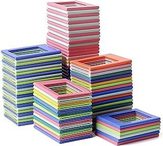 Yinuoday 1 st magnetiska fotoramar för kylskåpsskåp 6,2 cm x 4,5 cm magnetbildhållare slumpmässig färg