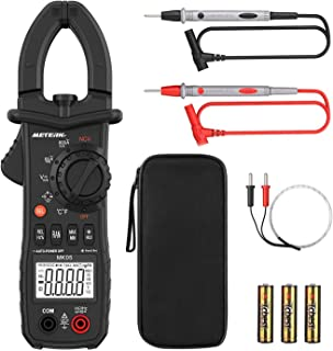 Digital Clamp Meter Meterk 6000 Counts TRUE RMS NCV AC/DC Voltage Auto Range AC Current..