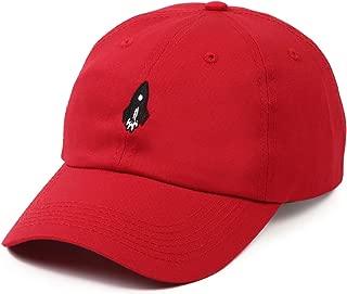 """Tha Alumni Clothing (アルムナイクロージング) ロゴ 6パネル ストラップバックキャップ レッド""""ROCKETSHIPSHAWTY DAD HAT"""" [並行輸入品]"""