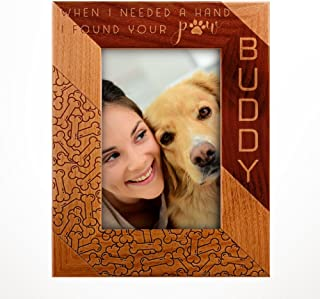 Personalized Pet Memorial, Customized Picture Frame, Cat and Dog Wood Photo Frame - Custom Frame - Birthday Gift Size Options: 4x6 | 5x7 | 8x10 PD1