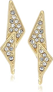"Rebecca Minkoff""Caged Stud"" Crystal-Pave Double Triangle Earrings"