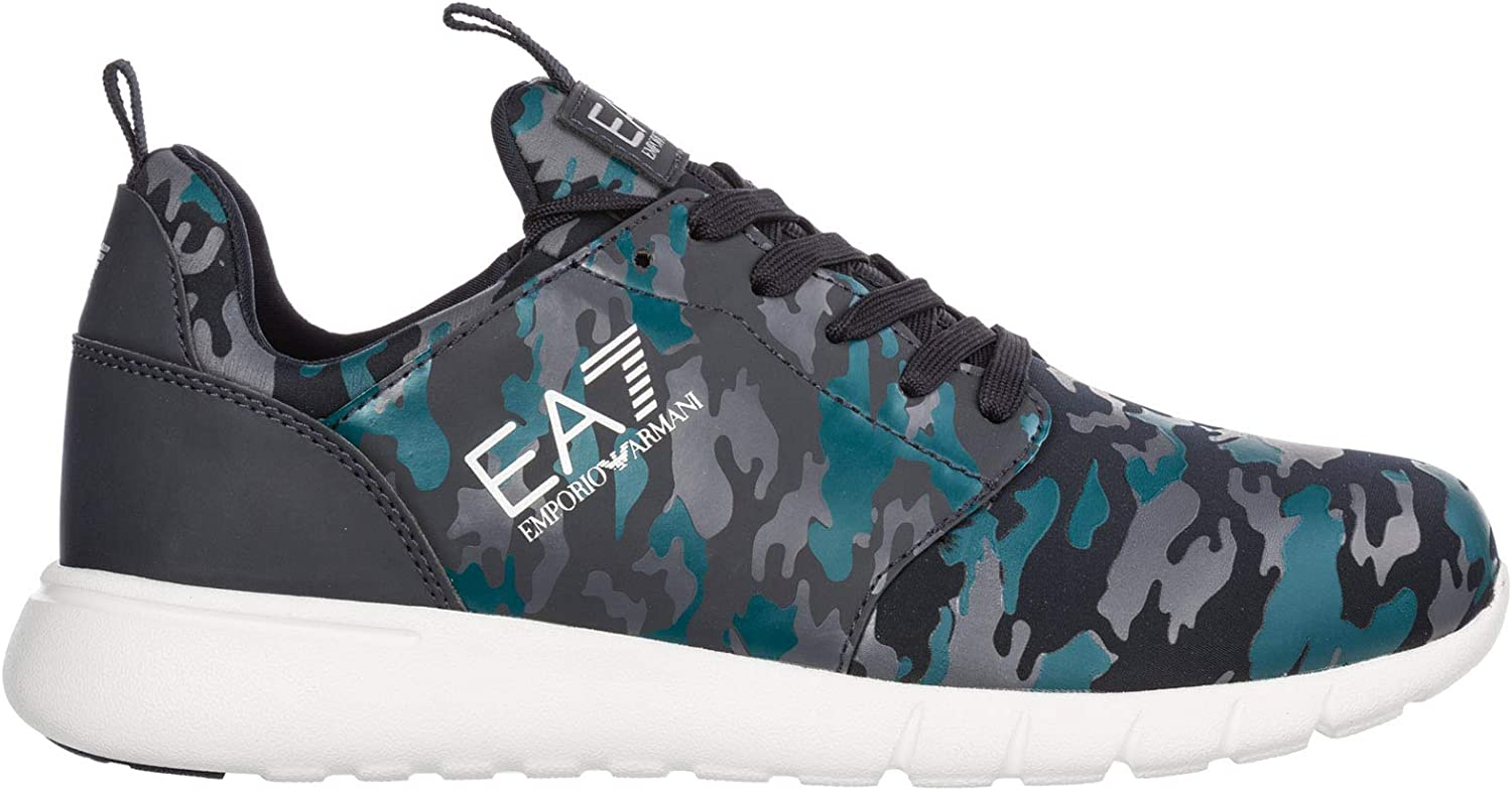 Emporio Armani EA7 Men Running shoes camo Night bluee