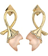 Alexis Bittar - Abstract Tulip Stud Post Earrings with Lucite