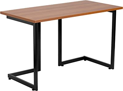 Flash Furniture Cherry Computer Desk with Black Metal Frame