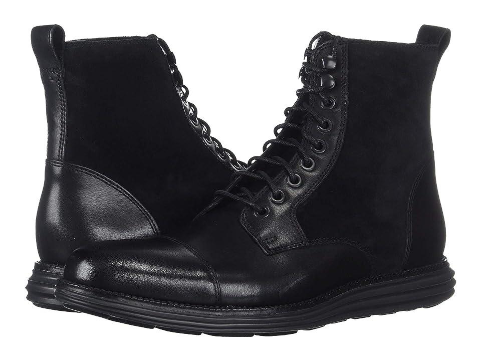 Cole Haan O.Original Grand Cap Toe Boot II (Black/Black) Men