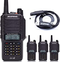 4pcs BaoFeng UV-9R Dual Band Walkie Talkie Dustproof Waterproof IP67 136-174/400-520MHZ VHF/UHF Transceiver Two Way Radio+ Programming Cable