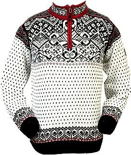 Baldur Norwegian Cotton Sweater | 100% Cotton Knit Design Quarter Zipper Patterned Collar Outdoor Norwegian