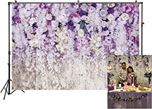 purple and white wedding backdrops