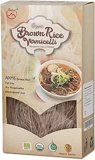 Tanisa ORGANIC Rice Vermicelli Noodles USDA Certified - gluten free (7 Oz/pack) (Vietnamese Bun) (ORGANIC Brown, 1 pack)