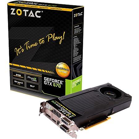 ZOTAC NVIDIA GeForce GTX670 搭載グラフィックカード GTX670 2GB DDR5 日本正規代理店品 (VD4633) ZTGTX670-2GD5R001