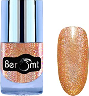 Beromt Holographic Nail Polish, Show Bright Sparks, Shimmer Nail Enamel, Extra Shine 7 Day Stay, Brown, 503, 10 ml