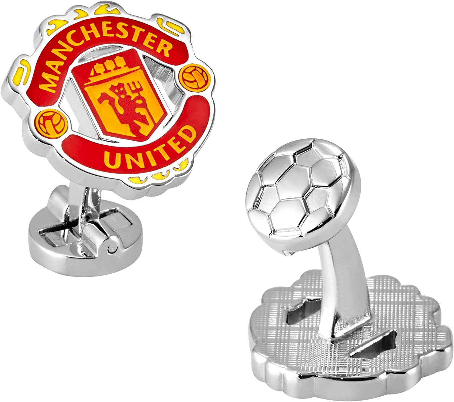 Manchester United F.C. Logo Cufflinks with Beauty products - Box Gift Courier shipping free shipping Grass Like
