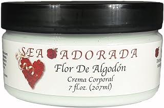 Sea Adorada Crema Corporal, Flor De Algodon, 7 Fluid Ounce