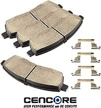 CENCORE Rear Brake Disc Pad Set 4 pcs Ceramic Brake Pads Kits Compatible with Ford Excursion 2000-2005/Ford F-250 1999/Ford F-250 Super Duty 1999-2004/Ford F-350 Super Duty 1999-2004