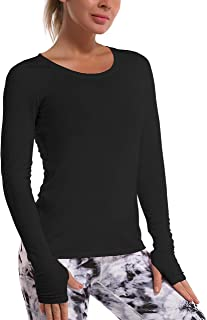 BUBBLELIME Workout Shirts for Women Modal Tie Front Knot Tops Open Back Activewear Super Soft