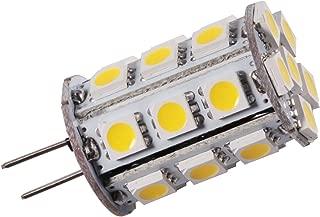 GRV Base G4bi-pin–Jc LED halógena bombilla de recambio 24–5050SMD LED de alta potencia lámpara AC/DC 12V-24V, Warm White, g4, 2.60 W 12.00 voltsV