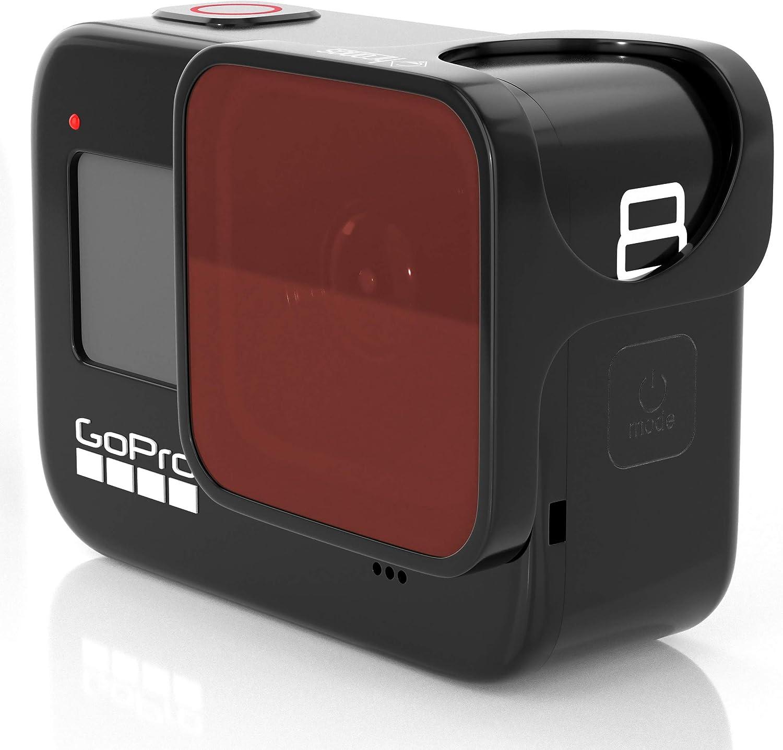 Chronos Red Dive Schnorchelfilter Für Gopro Hero 8 Kamera