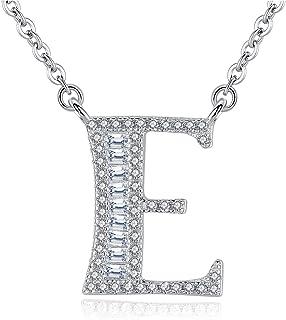 Gemshadow iniziale collana in argento Sterling 925con zirconi lettera personalizzata regali per donne ragazze