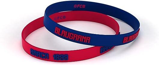 FCB Pulsera Microinjection Azul y Roja Junior, Pulseras de silicona Fútbol Club Barcelona, Producto Oficial
