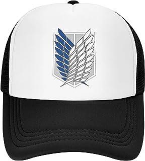 Icepos Trucker Hats Adjustable Snapback Hip-Hop Baseball Cap Atta-Ck On Titan Adult Mesh Sports Cap