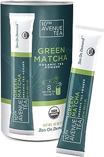 Organic Matcha Green Tea | Organic Tea Packets for instant Iced Tea, Hot Tea, Latte, Drink Recipes, Water Enhancer | Antioxidants, Natural Energy, Sugar-Free (Green)