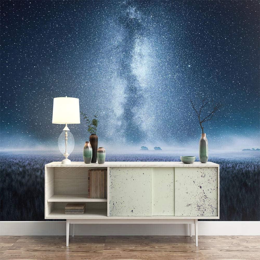ZXDHNS Wall Murals XXXXL - Blue Self-Adhesive Starry Scene Max 88% OFF Night Super-cheap