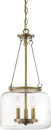 2021 Savoy House outlet online sale 7-9006-3-322 Akron 3-Light Pendant in popular Warm Brass online