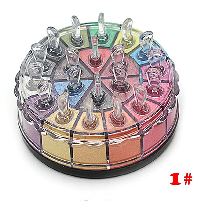 影響を受けやすいです挨拶するゴミプロ用 24色/20色 アイシャドウ パレット ラメアイシャドウ グリッタ (20色-1)