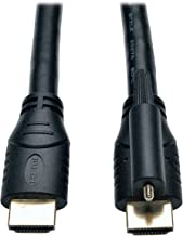 Tripp Lite High Speed HDMI Cable with Ethernet and Locking Connector, Ultra HD 4K x 2K, 24AWG (M/M), 6-ft. (P569-006-LOCK)